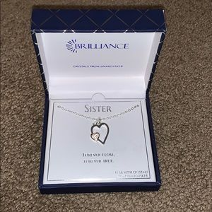 """Heart necklace """"sister"""""""